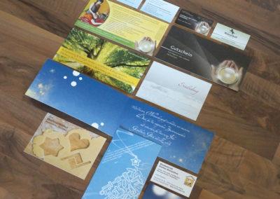 Karten / Gutscheine /Flyer / Visitenkarten