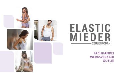 CI Erstellung - mit vielen Werbemitteln für Elastic Mieder