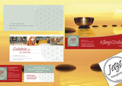 CI - mit Logo, Briefumschlägen, Karten, Flyern