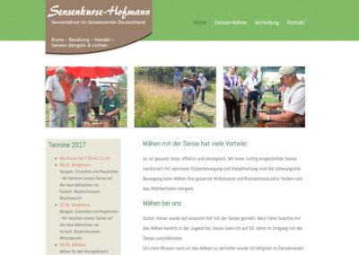 Webprojekt: www.sensenkurse-hofmann.de
